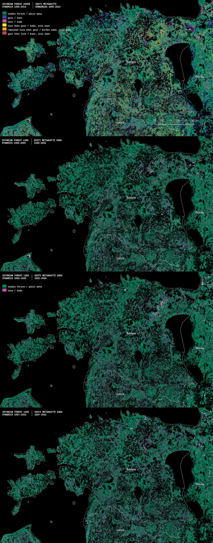 03ce5b98942 Allikad: Potapov P.V., Turubanova S.A., Tyukavina A., Krylov A.M., McCarty  J.L., Radeloff V.C., Hansen M.C. Eastern Europe's forest cover dynamics  from 1985 ...